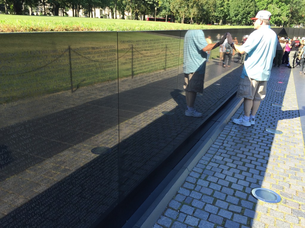 This is my dad at the Vietnam Memorial in Washington D.C.