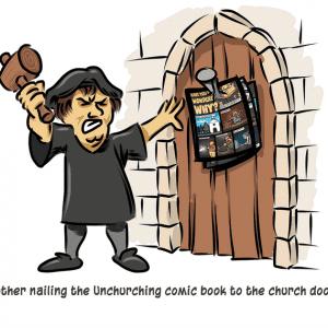 Support Richard Jacobson's Unchurching Comic Book on Kickstarter